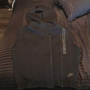 Nike Tech Fleece Black Hooded Vest Size M